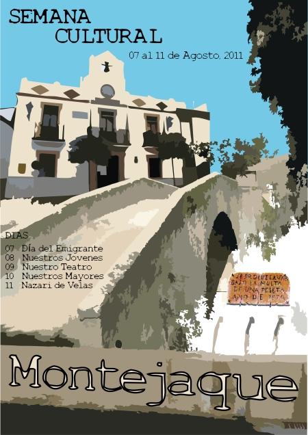 Cartel anuncio de la semana cultural 2011.